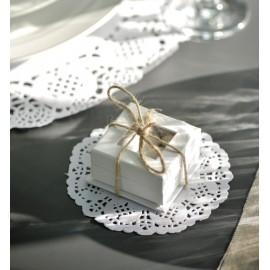 Napperon dentelle papier blanc 10 cm les 10