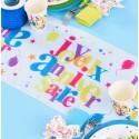 Chemin de table joyeux anniversaire festif 5 M