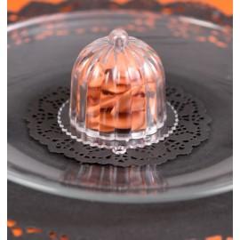 Boîte à dragées cloche à gâteau transparente les 2