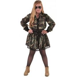 Déguisement veste camouflage fille