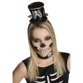 Mini chapeau haut de forme squelette adulte et enfant