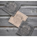 Serviettes de table vintage kraft naturel et noir papier les 20
