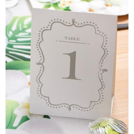 Numéro de table vintage blanc de 1 à 10 les 10