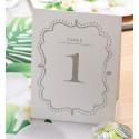 Numéros de table vintage blanc de 1 à 10 les 10