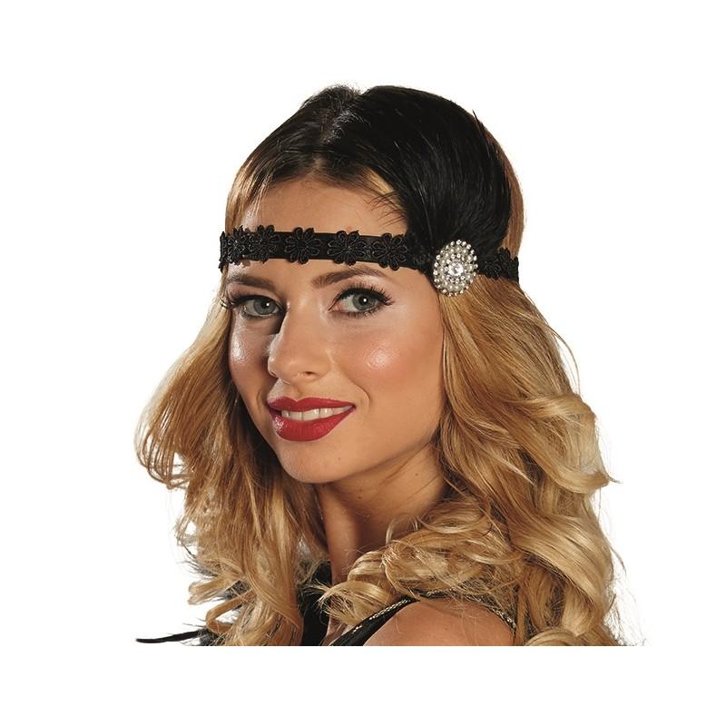 Bandeau charleston noir femme avec plumes bandeau coiffe ann es 20 30 - Bandeau annee 20 ...