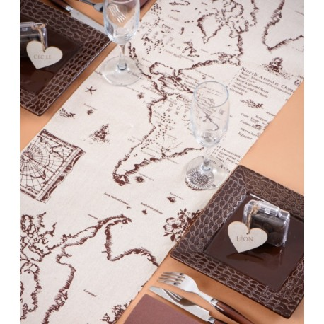 Chemin de table voyage coton naturel 3 M