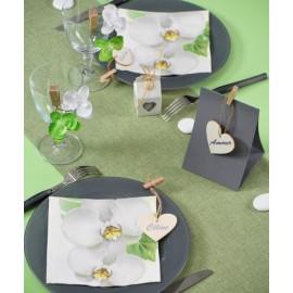 Chemin de table polylin vert 5 M