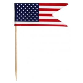 Pique cocktail drapeau américain USA les 10