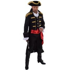 Déguisement manteau amiral noir homme luxe