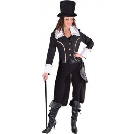 Déguisement manteau amiral noir femme luxe