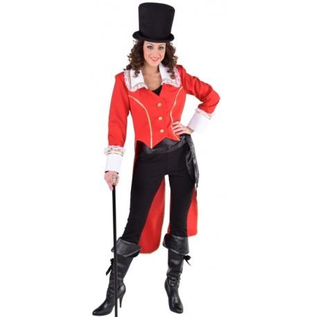 Déguisement manteau amiral rouge femme luxe