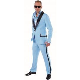 Déguisement smoking bleu ciel homme luxe