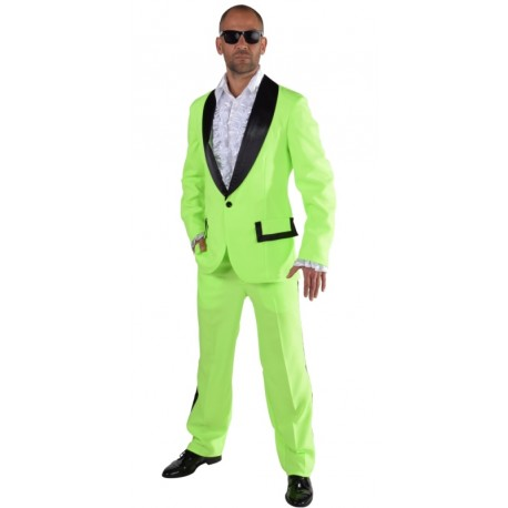 Déguisement smoking fluo vert homme luxe