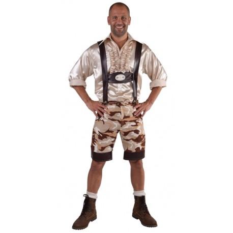 Déguisement pantalon tyrolien camouflage homme luxe