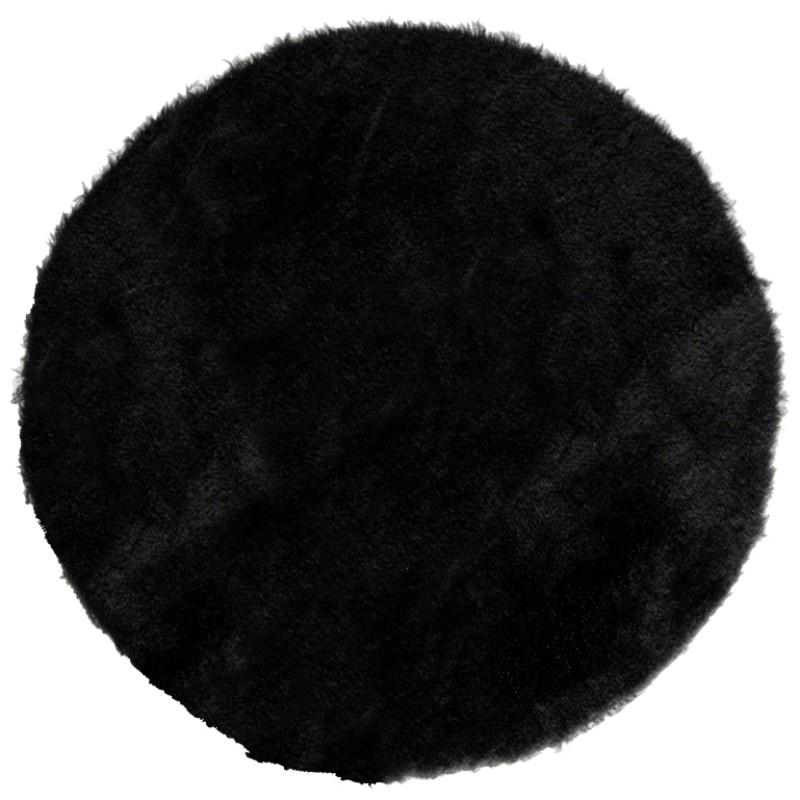 sets de table fausse fourrure noire 34 cm les 4. Black Bedroom Furniture Sets. Home Design Ideas