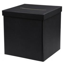 Tirelire kraft couleur ardoise carton 20 cm