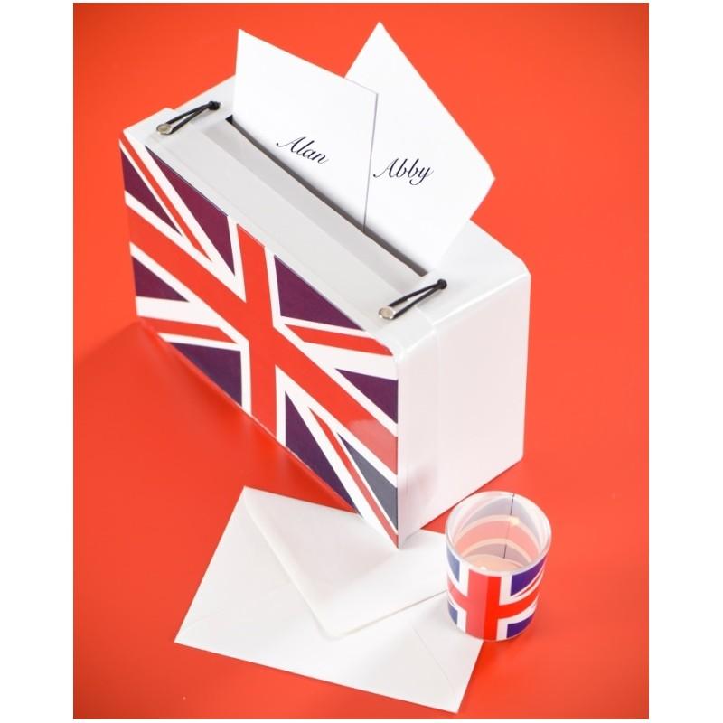 tirelire valise angleterre drapeau anglais en carton 24 cm. Black Bedroom Furniture Sets. Home Design Ideas