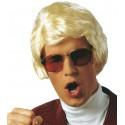 Perruque courte blonde homme