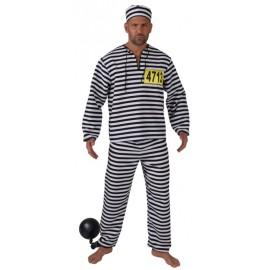 Déguisement prisonnier noir blanc homme luxe
