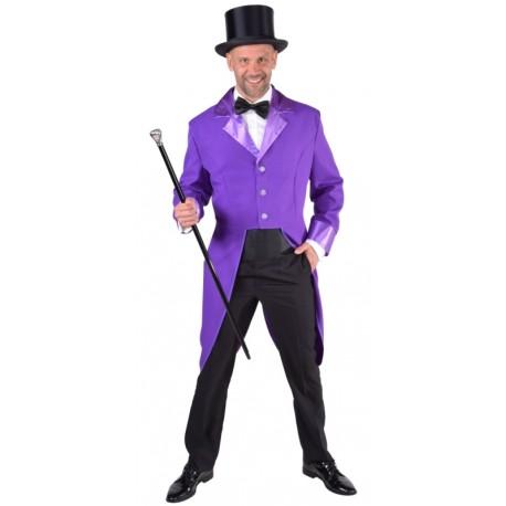Déguisement queue de pie violette homme luxe