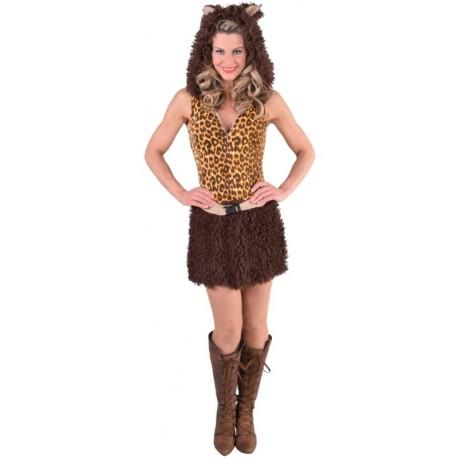 Déguisement chat léopard brun femme luxe