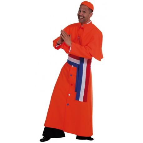 Déguisement cardinal homme luxe orange