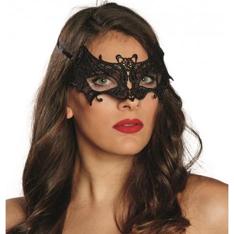 Loup dentelle chauve souris noire femme achat masque et loup - Masque chauve souris a imprimer ...