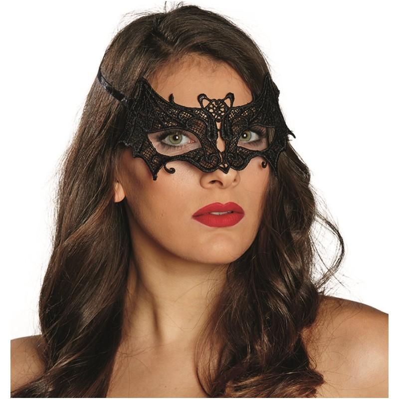 loup dentelle chauve souris noire femme achat masque et loup. Black Bedroom Furniture Sets. Home Design Ideas
