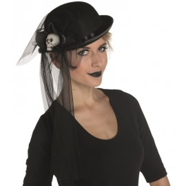 Chapeau melon Halloween femme