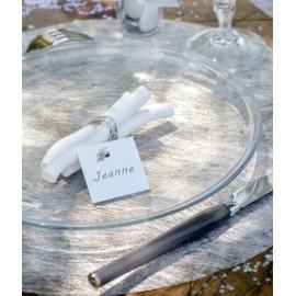 Sets de table ronds fanon métallisé argent les 6