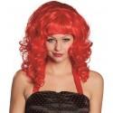 Perruque bouclée rouge femme