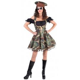 Déguisement officier militaire femme luxe