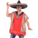 Déguisement poncho mexicain homme luxe