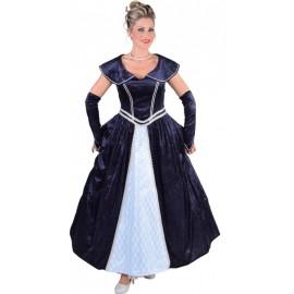 Déguisement marquise bleue femme luxe