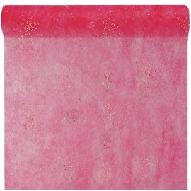Chemin de table diamant fuchsia 5 M