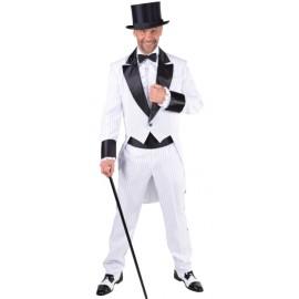 Déguisement costume cabaret homme luxe blanc et noir