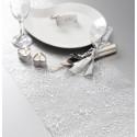 Chemin de table cristaux argent organdi 5 M