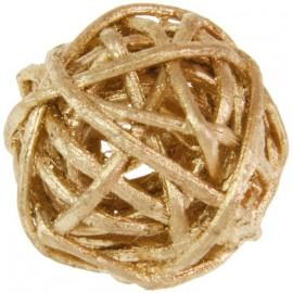 Boule rotin or 3 cm les 12