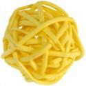 Boules rotin jaune 3 cm les 12