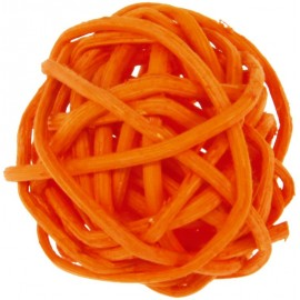 Boule rotin orange 3 cm les 12