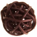 Boules rotin chocolat 3 cm les 12