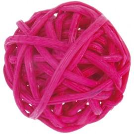 Boule rotin fuchsia 3 cm les 12