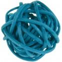 Boules rotin turquoise 3 cm les 12