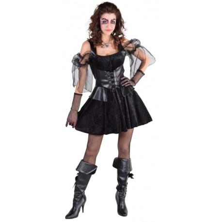 Déguisement gothique femme Halloween luxe