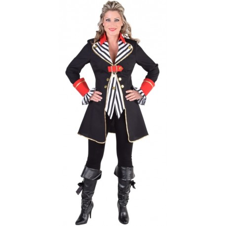 Déguisement capitaine pirate femme luxe