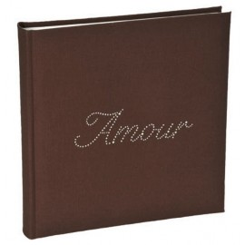 Livre d'or Amour strass chocolat