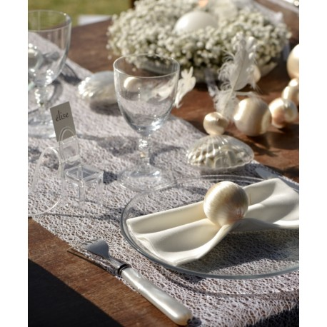 Chemin de table Grace blanc 5 M