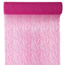 Chemin de table Grace fuchsia 5 M