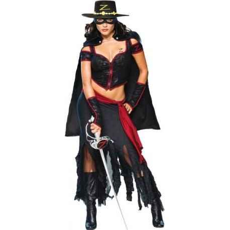 Déguisement Lady Zorro femme luxe déguisement Zorro femme