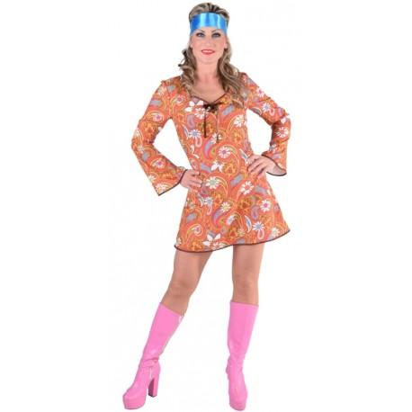 Déguisement 70's hippie paisley femme luxe